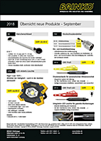 New products sheet September 2018, complete (pdf, 0.6 MB)