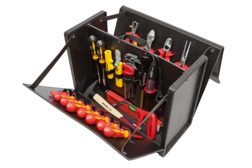 Rindsleder & ABS Werkzeugkoffer Premium | Elektro EXCLUSIVE