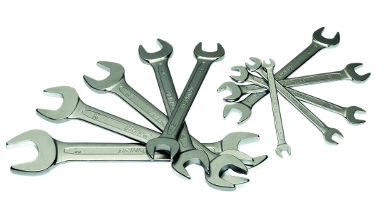 Open-end wrench set 8 pieces: 6 x 7 - 20 x 22 mm