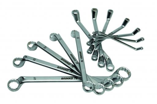 Набор 12-гранных накидных ключей 10 предметов: 6 x 7 - 24 x 27 мм